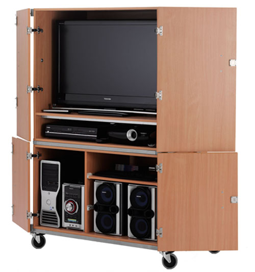 LC-799 Full cabinet lockable TV/VCR/DVD