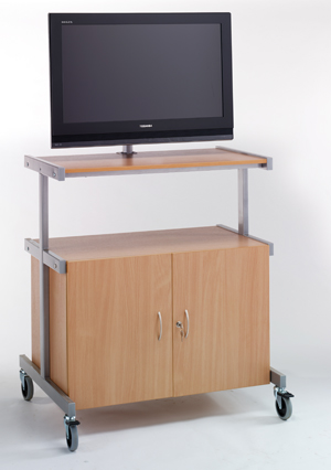LMT-008 TV/VCR/DVD Cabinet Trolley