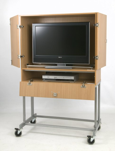 LC-737 LCD/Plasma Lockable TV/VCR/DVD Cabinet