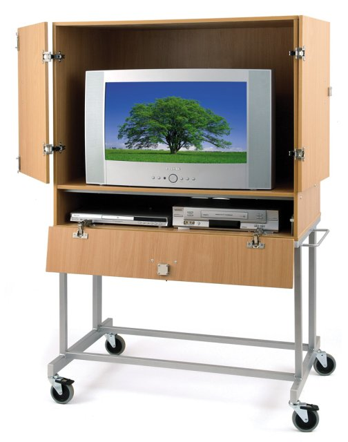LC-777 Lockable TV/VCR/DVD Cabinet